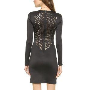 Clover Canyon Laser Cut Neoprene Long Sleeve Dress